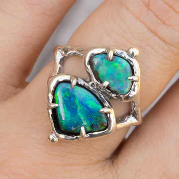 PRE-ORDER FOR CK- Double Opal Ring Sz 8