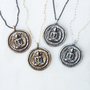 Thai Buddha Coin Necklace