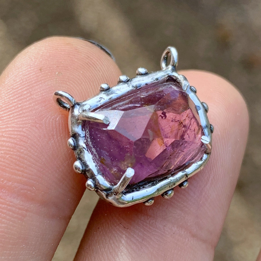 PRE-ORDER FOR SARAH- Pink Tourmaline Silver Necklace