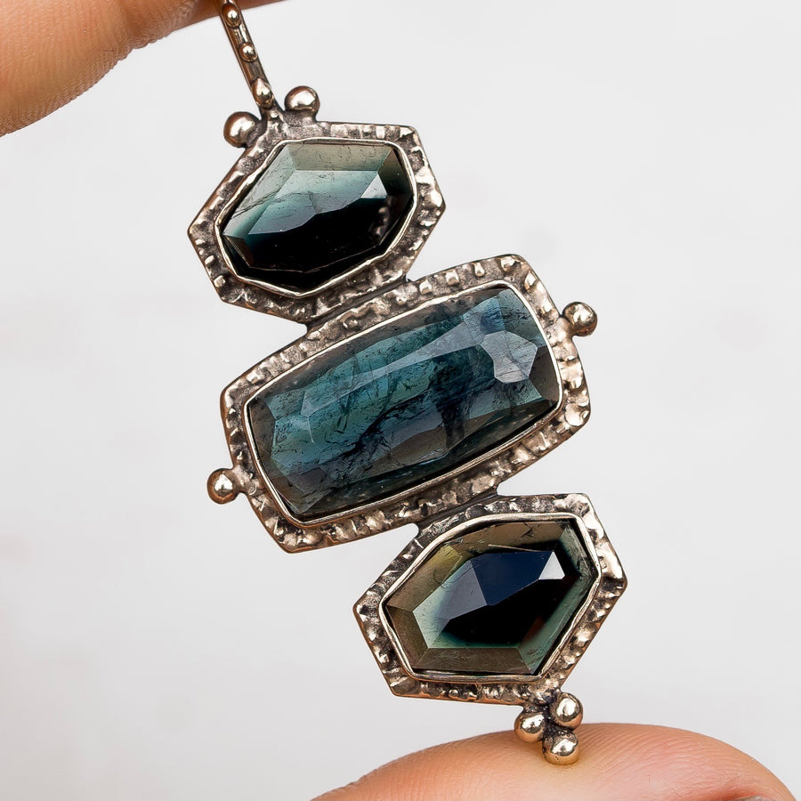 PRE-ORDER FOR GRACE- Dark Bicolor Tourmaline Pendant