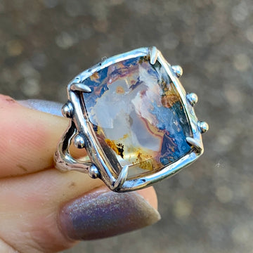 PRE-ORDER FOR CLAUDIA- Dendritic Quartz Ring- Sz 8
