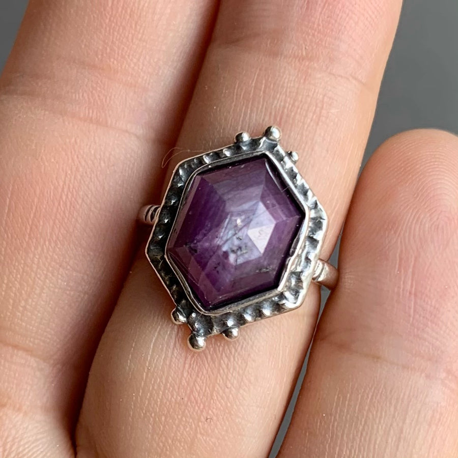 PRE-ORDER FOR DONNA- Star Sapphire Ring- Sz 5