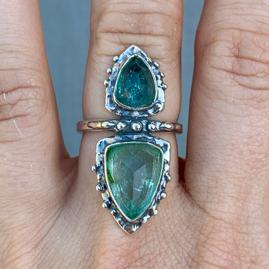 PRE-ORDER FOR EMILY- Indicolite Tourmaline Ring- Sz 8