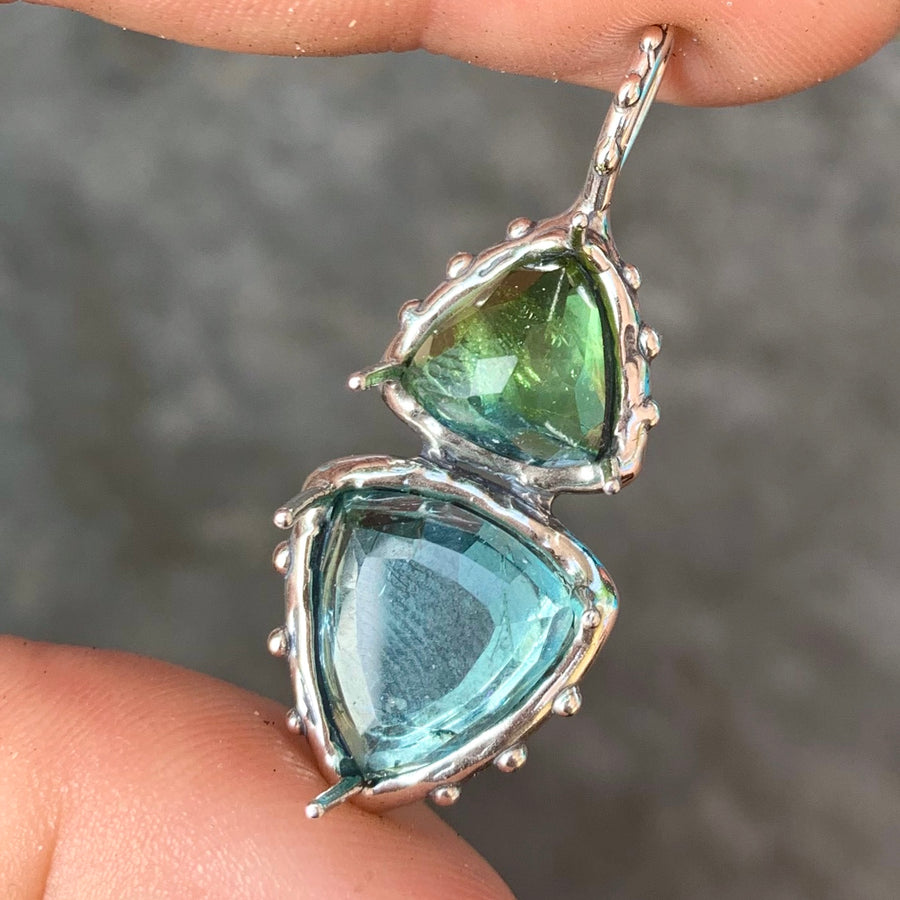 PRE-ORDER FOR LYDIA- Blue Tourmaline Silver Necklace