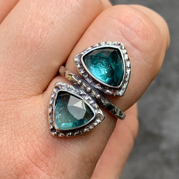 PRE-ORDER FOR LIZ- Indicolite Tourmaline Ring- Sz 9