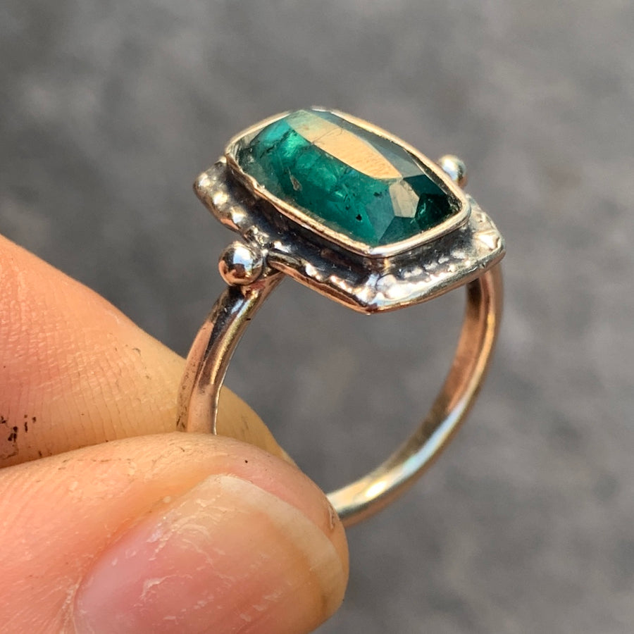 PRE-ORDER FOR JACKIE- Indicolite Tourmaline Ring- Sz 8
