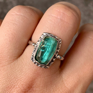 PRE-ORDER FOR LIZ- Indicolite Tourmaline Ring- Sz 8.25