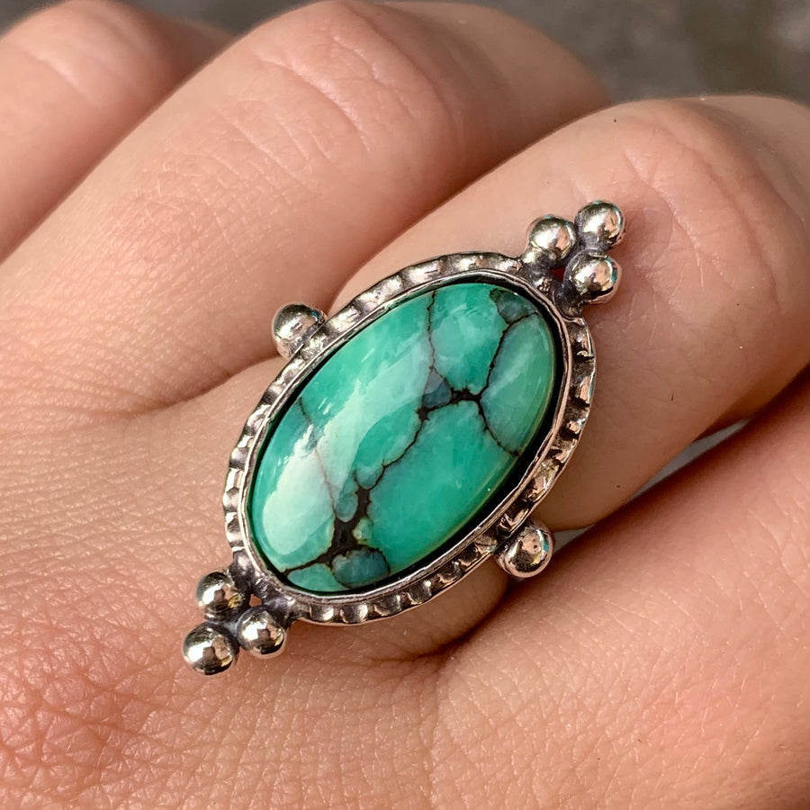 PRE-ORDER FOR EMILY- Desert Bloom Variscite Ring- Sz 8.5