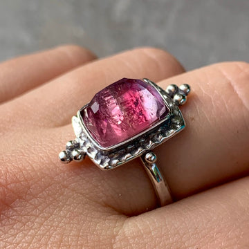 PRE-ORDER FOR LIZ- Pink Bicolor Tourmaline Ring- Sz 9