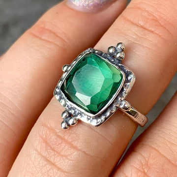 PRE-ORDER FOR ALIS- Green Tourmaline Ring- Sz 7