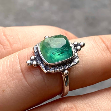 PRE-ORDER FOR RACHEL- Bicolor Tourmaline Ring- Sz 7.5