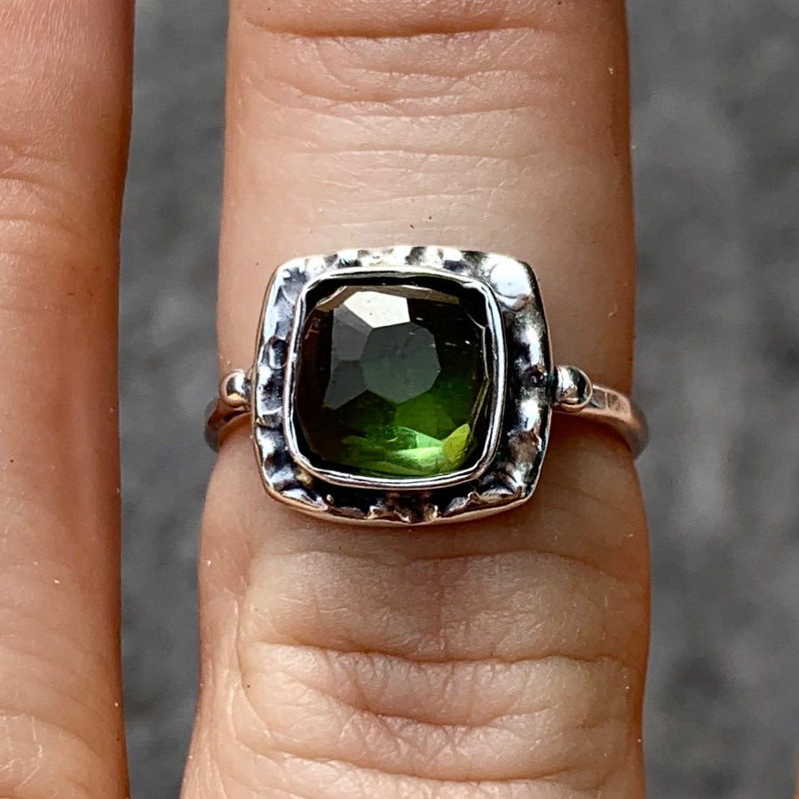 PRE-ORDER FOR KAT- Green Tourmaline Ring- Sz 7