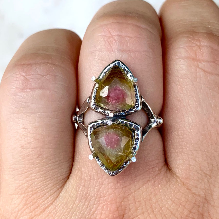PRE-ORDER FOR JACKIE- Watermelon Tourmaline Ring- Sz 7.5