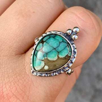 PRE-ORDER FOR CAT- Desert Bloom Variscite Ring- Sz 8.5