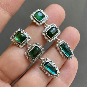 PRE-ORDER FOR EMILY- Green Tourmaline Dangle Earrings