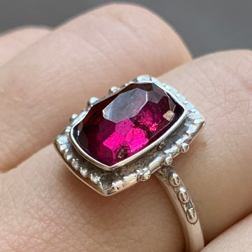 PRE-ORDER FOR LIZ- Rhodolite Garnet Ring- Sz 9