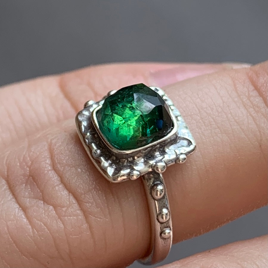 PRE-ORDER FOR Dominique- Green Tourmaline Ring- Sz 5