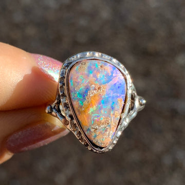 PRE-ORDER FOR CLAUDIA- Australian Pipe Opal Ring-Sz 8
