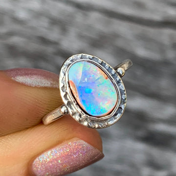 PRE-ORDER FOR DIANA- Australian Pipe Opal Ring-Sz 9