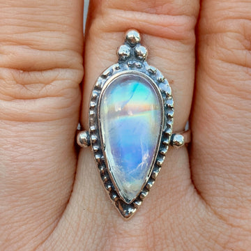 PRE-ORDER FOR KEITH- Moonstone Ring Sz 8