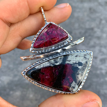 PRE-ORDER FOR CLAUDIA- Eudialyte Silver Pendant