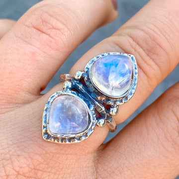 PRE-ORDER FOR ALLY- Moonstone Ring Sz 7