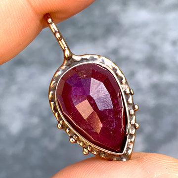PRE-ORDER FOR ALI- Rubellite Tourmaline Teardrop Necklace