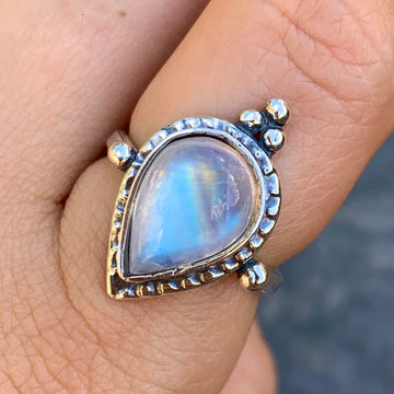 PRE-ORDER FOR EMILY- Moonstone Ring Sz 8