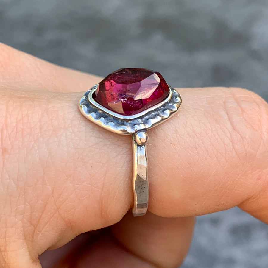 PRE-ORDER FOR FRAN- Rubellite Tourmaline Ring- Sz 8.5