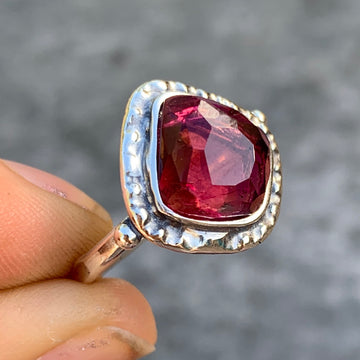 PRE-ORDER FOR DIANA- Rubellite Tourmaline Ring- Sz 8.75