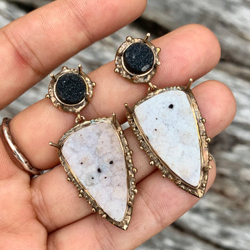PRE-ORDER FOR ANA- Agate Drusy Statement Earrings