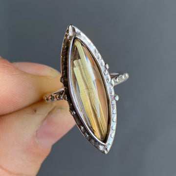 PRE-ORDER FOR ASHLEY- Rutilated Quartz Ring- Sz 8