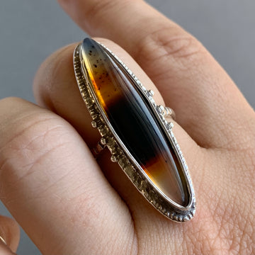 PRE-ORDER FOR JMACK- Montana Agate Ring- Sz 8