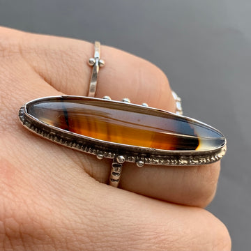 PRE-ORDER FOR LO- Montana Agate Ring- Sz 6