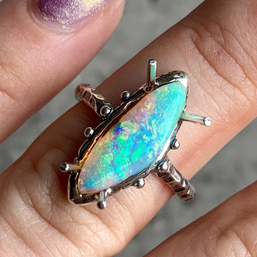 PRE-ORDER FOR BREYONNA- Pipe Opal Ring Sz 7.5