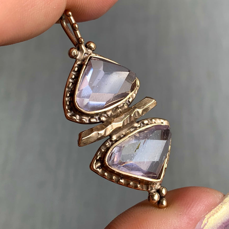 PRE-ORDER FOR BELLA- Kunzite Bronze Pendant