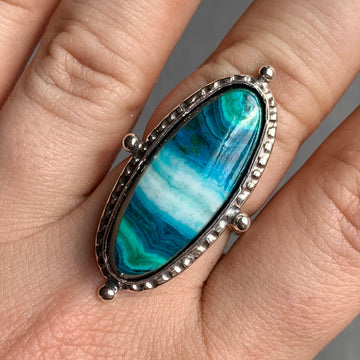 PRE-ORDER FOR SUSIE- Chrysocolla Malachite Ring- Sz 8