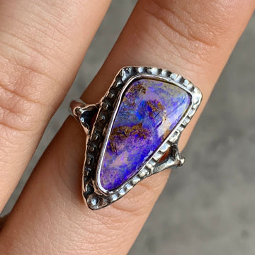 PRE-ORDER FOR KYM- Pipe Opal Ring Sz 8.5