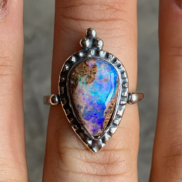 PRE-ORDER FOR NICKI- Pipe Opal Ring Sz 7.5