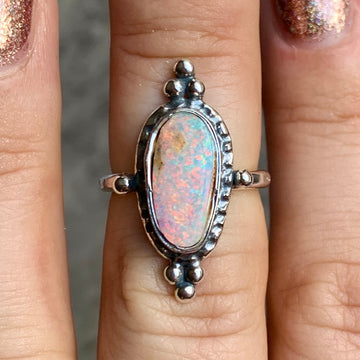 PRE-ORDER FOR KAT- Pipe Opal Ring Sz 5.5