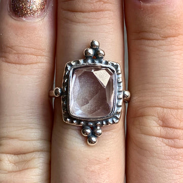 PRE-ORDER FOR LIZ- Kunzite Ring Sz 8