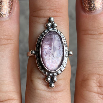 PRE-ORDER FOR SUE- Lepidolite Ring Sz 6