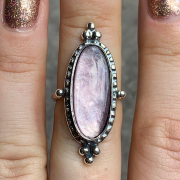 PRE-ORDER FOR BRIANNA- Lepidolite Ring Sz 7.25