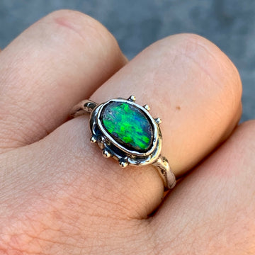 PRE-ORDER FOR Emily- Green Opal Ring- Sz 8.5
