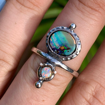 PRE-ORDER FOR PAM- Double Opal Ring 8.5