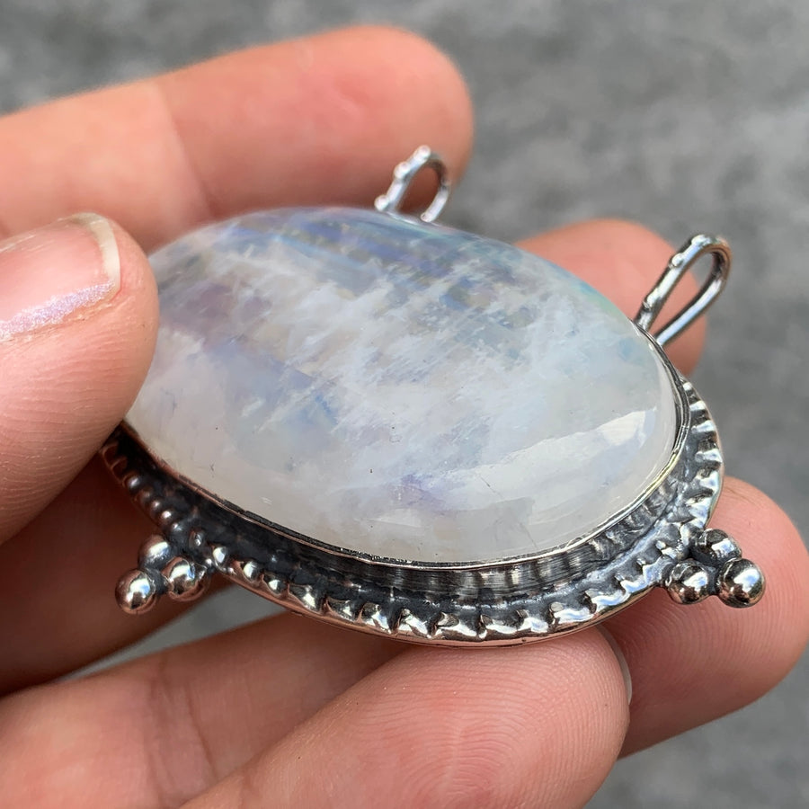PRE-ORDER FOR EMILY- Silver Moonstone Statement Pendant