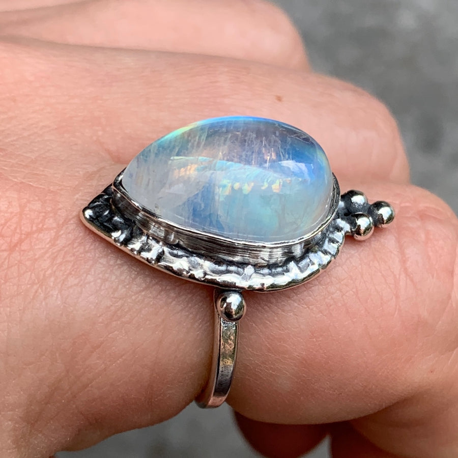 PRE-ORDER FOR CHARLENE- Moonstone Ring Sz 9