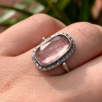 PRE-ORDER FOR EMILY- Pink Tourmaline Ring- Sz 7