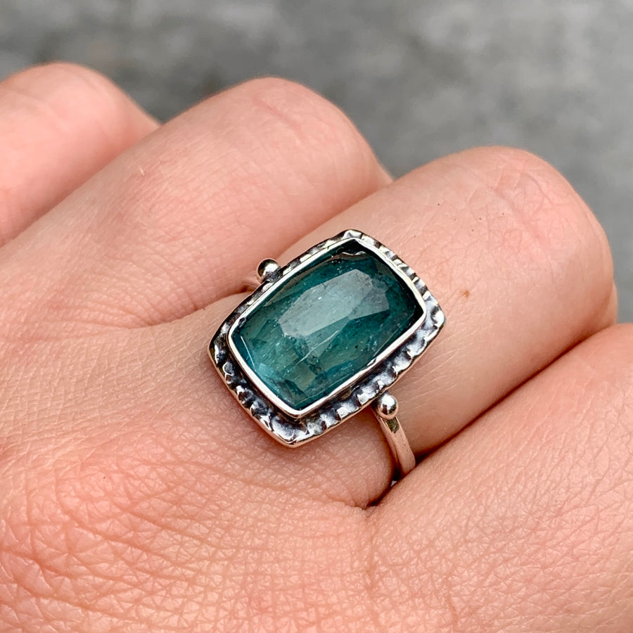 PRE-ORDER FOR EMILY- Indicolite Tourmaline Ring- Sz 9