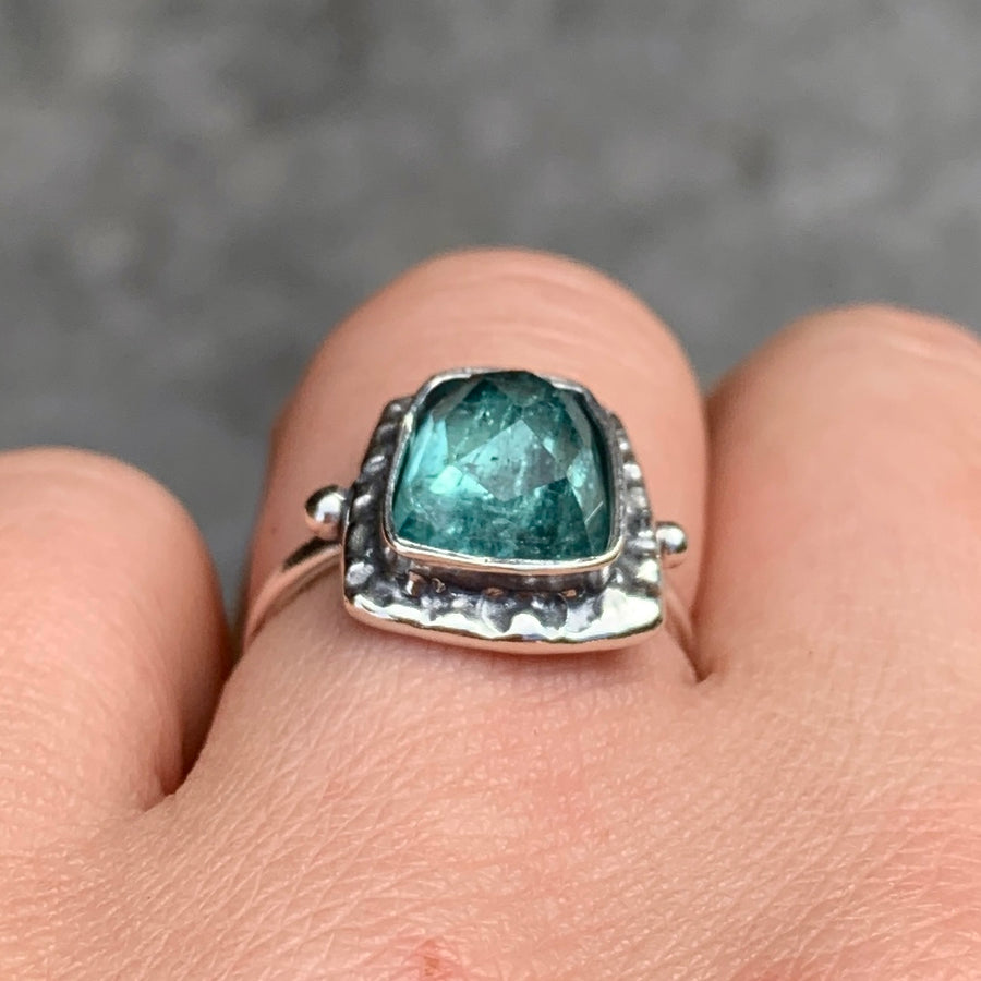PRE-ORDER FOR JULIA- Indicolite Tourmaline Ring- Sz 6